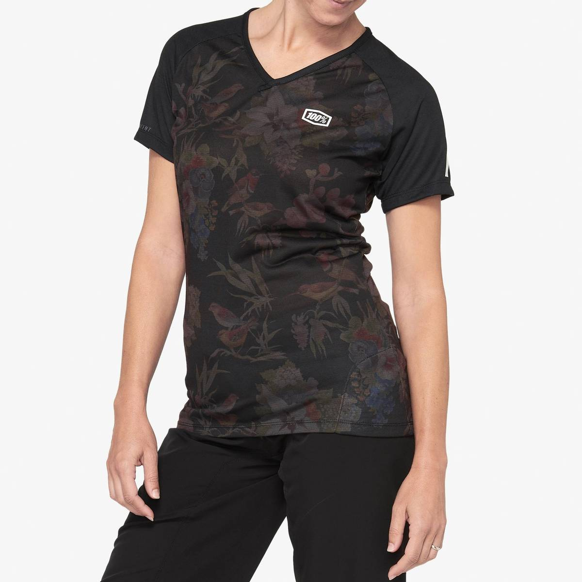 100% AIRMATIC Women's Jersey Black Floral